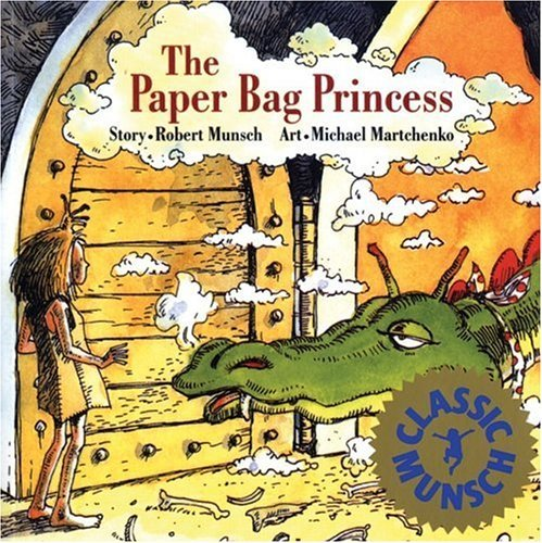 This was my FAVORITE book as a child! It's about a princess named Elizabeth (that's me!) who wanted to marry Prince Ronald. A dragon came and stole her prince and burned all of her clothing so she was forced to wear a paper bag (hence the title). Elizabeth chases the dragon and challenges him to completely an arduous task that ends up tiring him out, at which point she rescues her love. He tells her she isn't pretty enough now that she's not looking like a princess and she leaves his sorry butt and goes off to live her own life. I think it's incredibly empowering and a great message. I'd love to dress up as the Paper Bag Princess one Halloween!