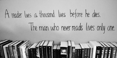 optimisticmuse:  The man who never reads live only once.