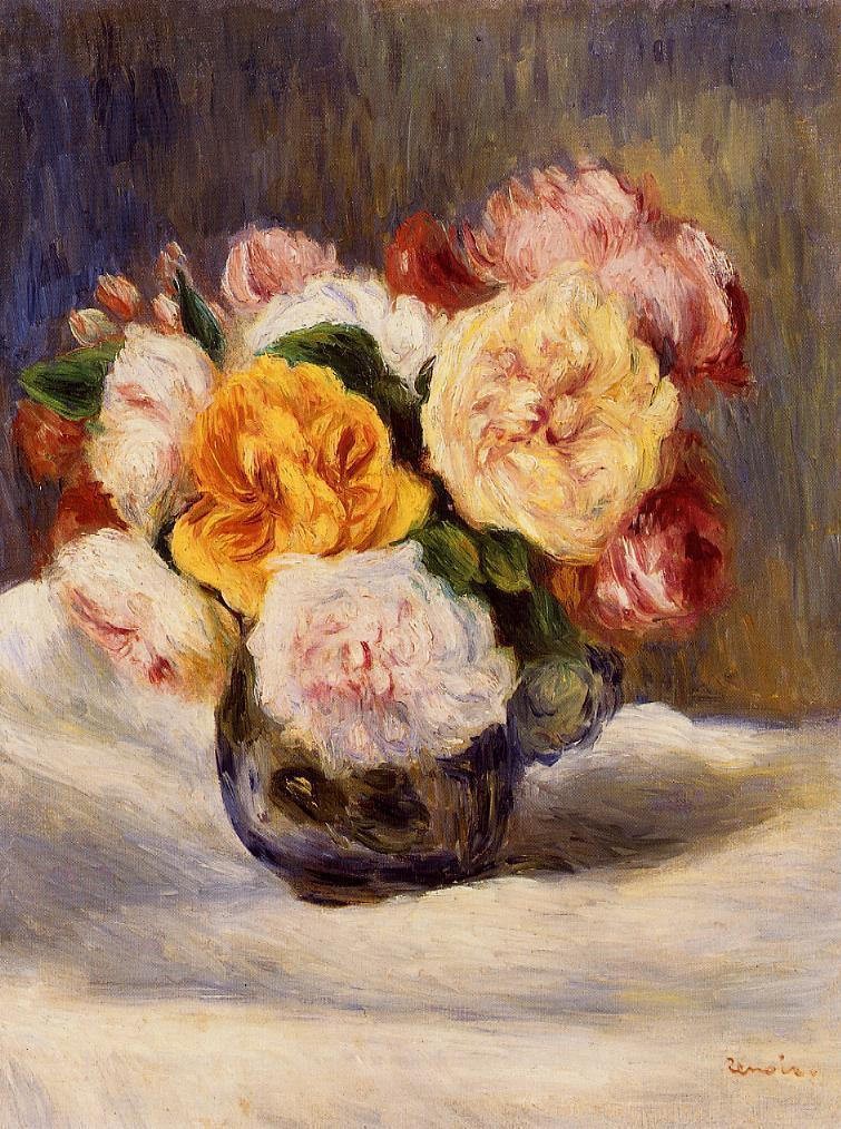 Pierre Auguste Renoir - Bouquet of Roses