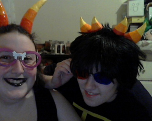 inkwhisper:  Heading to omegle tonight!! I'm in as Feferi, as my bff, Envy, is in as Sollux! Try to find us, glub! 38D  2ee you guy2 there iif you head on!