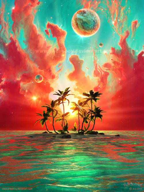 theawesomedeviants:  Summer Paradise by `priteeboy