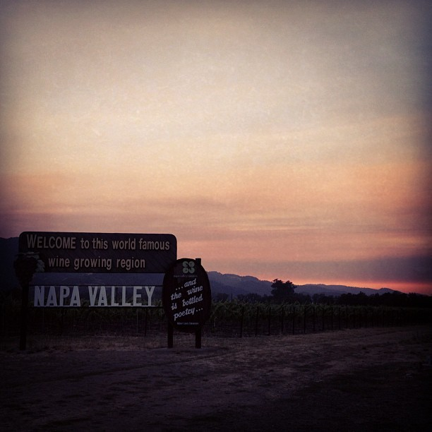 "Napa welcomes  (Taken with Instagram at ""Welcome to Napa Valley"" Sign)"