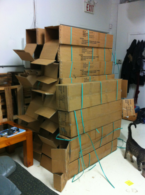 Because there's only one thing to do with this many boxes…