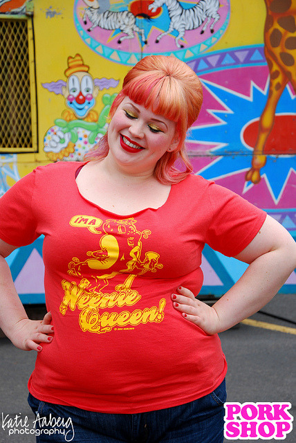 I'M A WEENIE QUEEN on Flickr. T-shirt available NOW in the PORK SHOP! Model: Amelia Hart Hair & Makeup: Amelia Hart