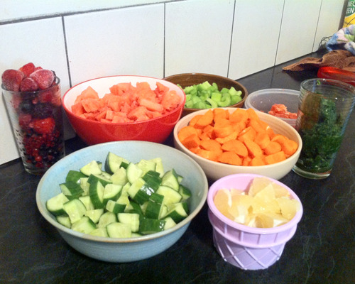 Prepped for an afternoon of juicing!! Support my dry july challenge HERE. All donations go to The Mater Adult Hospital, Brisbane.