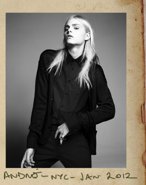 Andrej Pejic. NYC January 2012 www.taghinaderzad.com