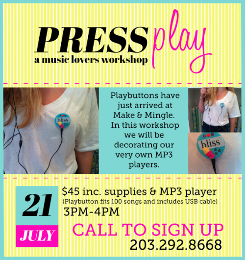 Press Play Workshop