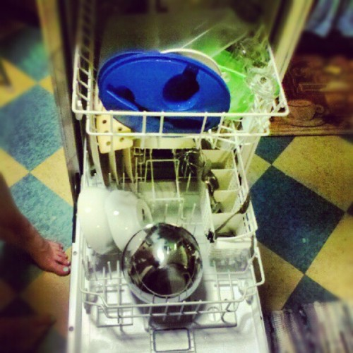 Great success! Dishes clean as a whistle! (Taken with Instagram)