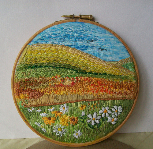 fuckyeahneedlework:  grumpystitches:  Quiet Place by dozydotes on Flickr.  This is really quite lovely.