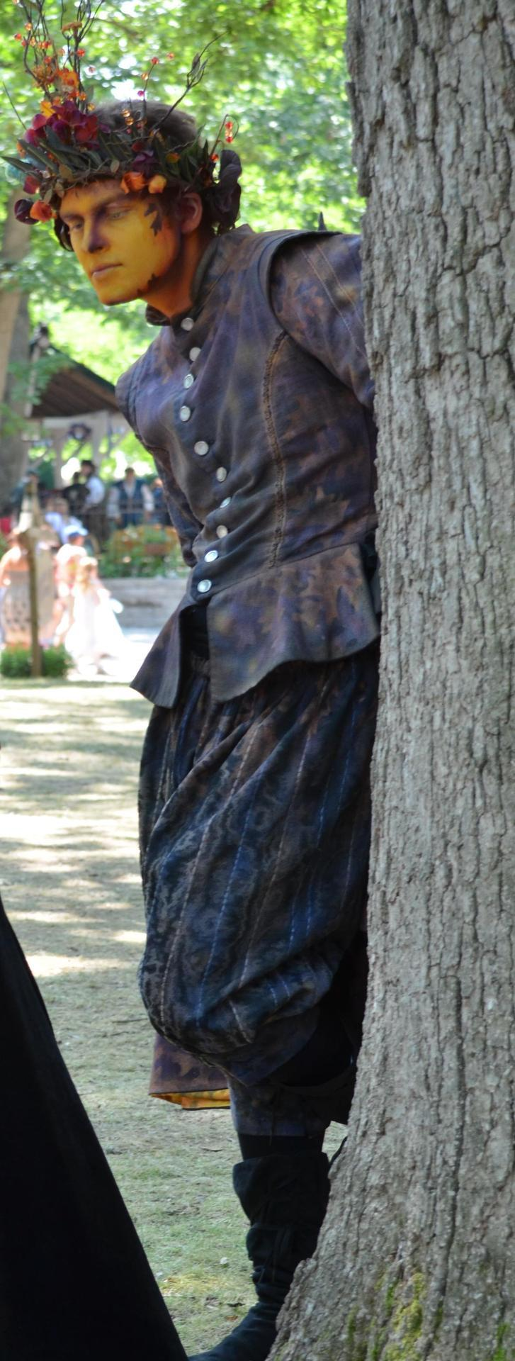 theangel24601:  Oberon the Fairy King at the Bristol Renaissance Faire I feel like my picture don't do this man's makeup or acting any justice. He was amazing. His interaction with the kids was hilarious, and I kept wanting to touch him because he looked so unreal.  Also helped that he was a handsome sonofabitch! ;)