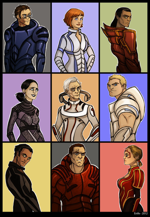 xxwriter389xx:  Mass Effect - aliens as humans by ~Enife  I think Wrex needs a little gray at the temples BUT OTHERWISE THIS IS FLAWLESS BEYOND REASON  <3