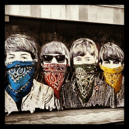 You know the #beatles got that #gangsta shit going on.. #classic #streetart #art  (Taken with Instagram)