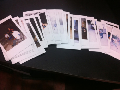 Yay for Polaroid cameras! Took a lot of pictures for my Brother's birthday party!:)
