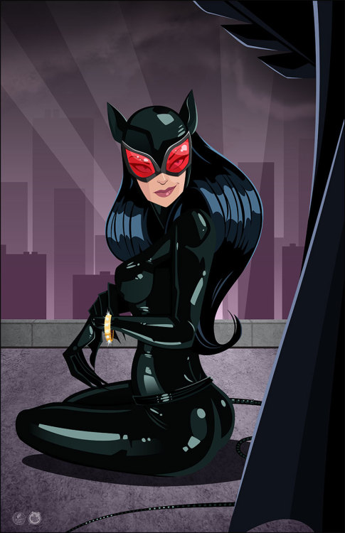 Catwoman by Dan Schoening, color by Andrew Harmon