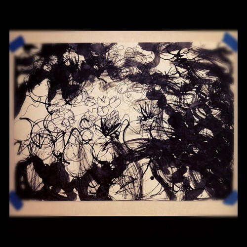 A lotus pond at Naeso temple #art #drawing (Taken with Instagram)