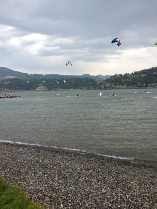 From Hood River, OR. I feel so fortunate to travel a bit this summer. Especially to new places, to see familiar faces.  Hood River seems so natural to me, although I have never been here.  The scenery is lush, the people are friendly, they live outside (in the summer-at least), and the food is fresh. Cheers to new traditions & new projects - The Hood River Project.