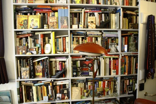 John Waters' book shelves, 2012