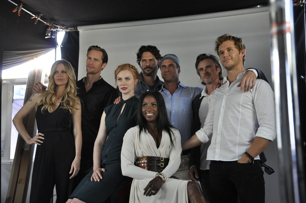 Kristin Bauer, Alexander Skarsgard, Deborah Ann Woll, Joe Manganiello, Rutina Wesley, Christopher Meloni, Sam Trammell and Ryan Kwanten at San Diego Comic-Con, July 14th How 'bout these two beautiful, fierce muthafuckas?