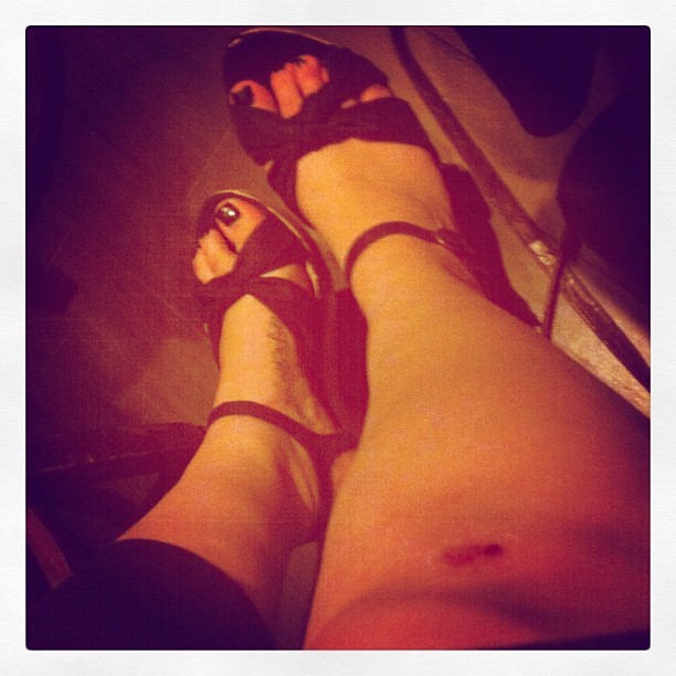 I got a booboo today… In front of 3 benches filled of people on front of #Outback in the middle of the road meeting my rents for #dinner.. This is what I get for listening to my mom and wearing #heels.. #blood #cut #burn #tattoo #ink .. Didn't rip my #leggings though! ..#womenprobllems #ouch.. I was the #entertainment for The #night.. And accordino to an old lady, I #fell and got up #gracefully.. #SOML .. Psht #done #stuckintime  (Taken with Instagram)