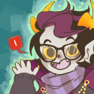 kingkimochi:  AWW YISS NEW ASK-ERIDAN-AMPORA ICON BECAUSE THE LAST ONE STARTED LOOKING A LITTLE CREEPY … I MADE IT ALL BUBBLY AND KAWAII. WHO WOULDN'T WANT TO ASK THAT BABU A QUESTION ABOUT TENTABULGES /SOBS. I .. really like this style … omg