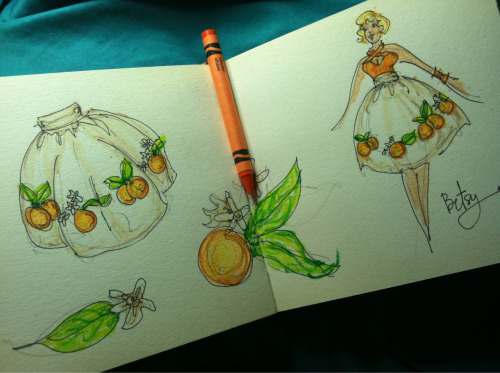 Sketchbook: Oranges :-)