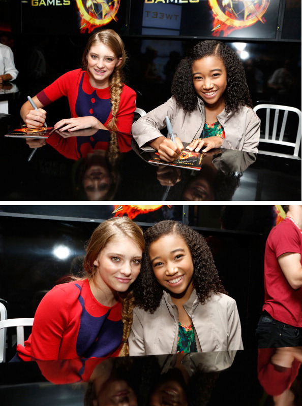Willow Shields and Amandla Stenberg at The Hunger Games Autograph Signing at San Diego Comic-Con, July 14th