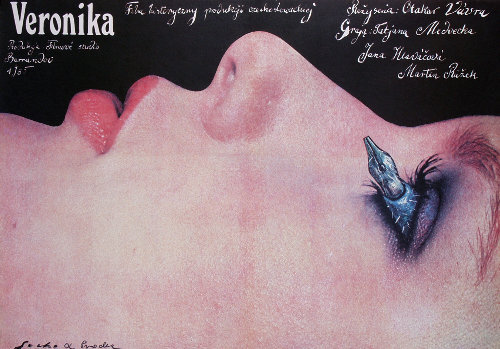 Poster for Otakar Vavra's Veronika designed by Romuald Socha and Elzbieta Procka, 1987