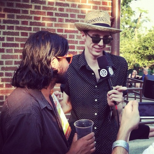 Bradford Cox interviewing John Fernandez (Olivia Tremor Control) for @pitchforkmedia  (Taken with Instagram)