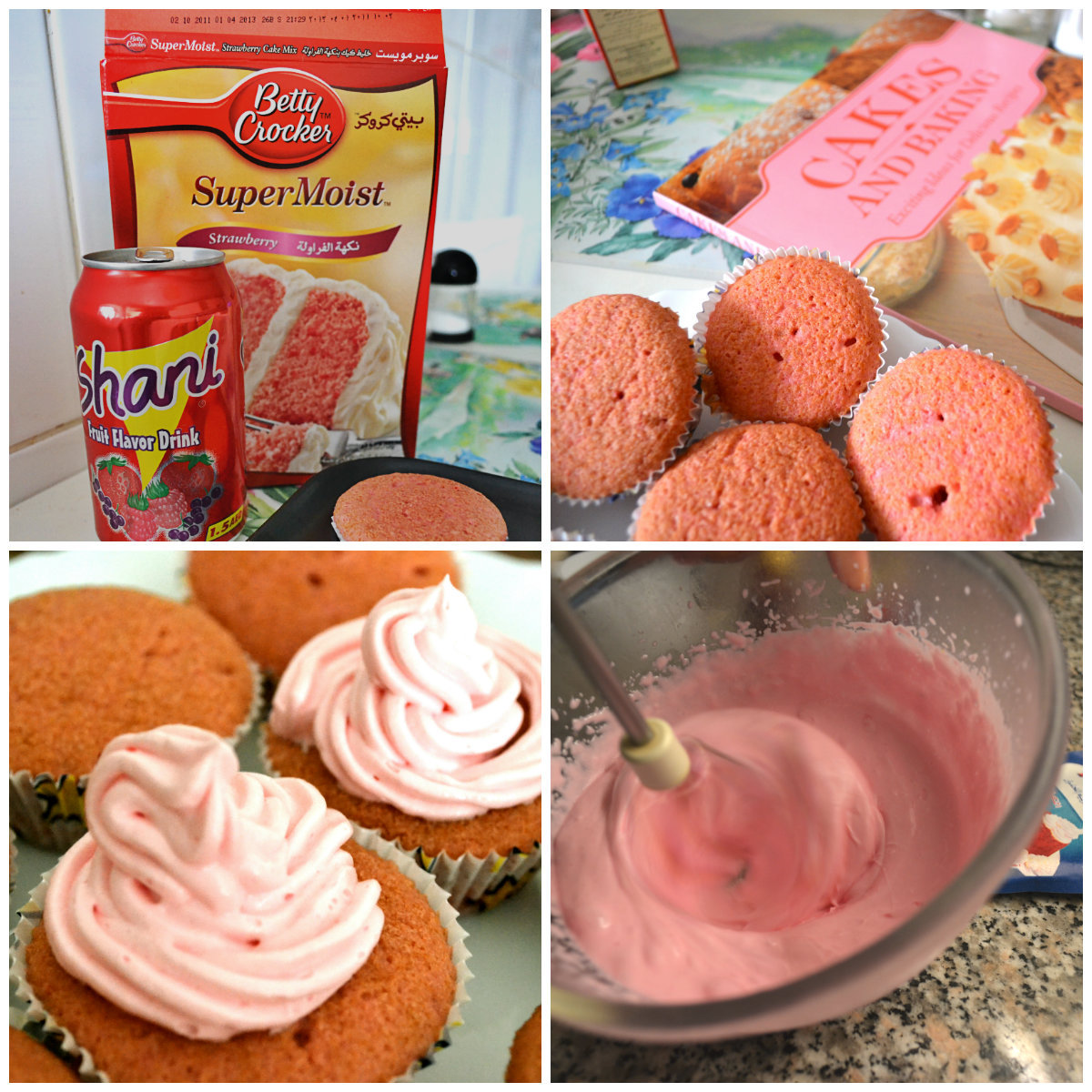 Who doesn't like a nice batch of warm Strawberry Cupcakes with Pink Vanilla Frosting?  What's even better? You use nothing but a can of Soda! :O Yummm…