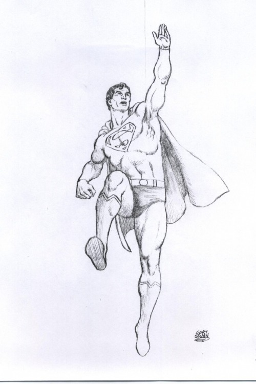 A Curt Swan pencil pin-up of Superman. :)