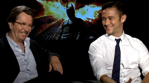 Gary Oldman and Joseph Gordon-Levitt 『The Dark Knight Rises』Interview