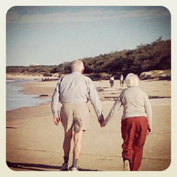Such a sweet couple! (Taken with Instagram at Marcoola Beach) photo karina eastway
