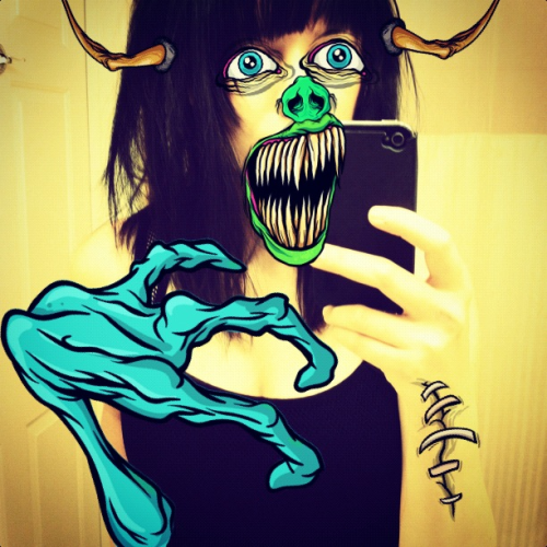 Me without makeup. In love with the #waycooler app. alex pardee  #waycooler #alexpardee #app #monster #makeup
