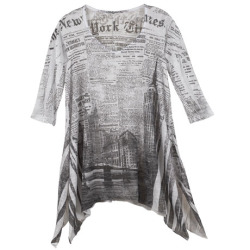Newsprint Tunic T-shirt.