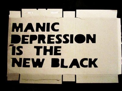 manic depression is the new black / stencil by alshepmcr on Flickr.