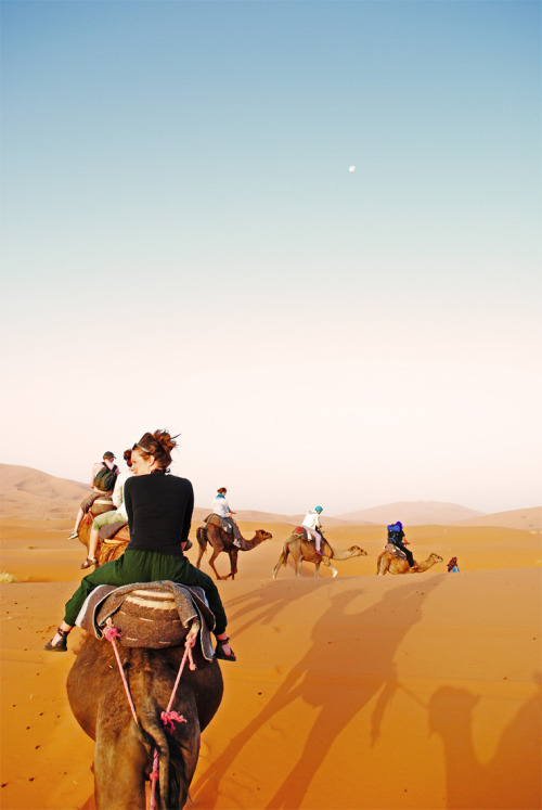 Riding East in the Sahara, Morocco.