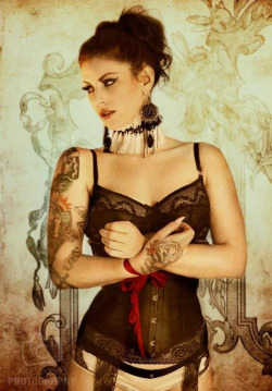 Model; Louella Deville Photography by Alf Caruana Cincher, hosiery, earrings, chocker and accessories by Kornelia's Kloset  www.korneliaskloset.com