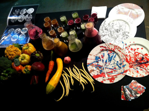 Made Vegetable Juices and presented my plates at culinary event in Brussels.