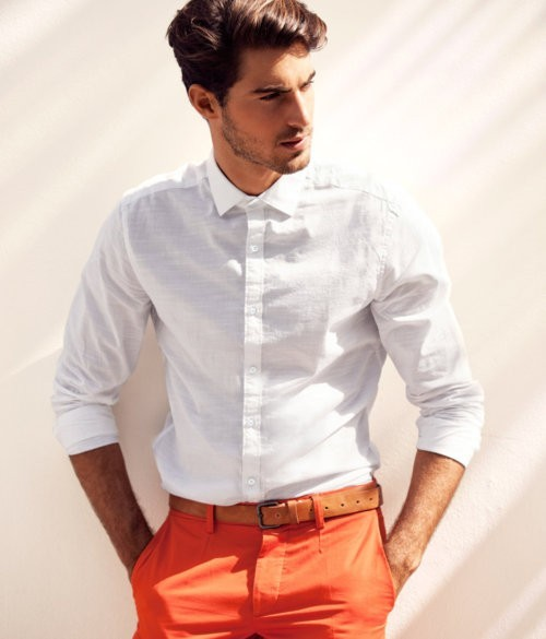 Orange + White = Perfect combination facebook.com/GentlemanF gentleman-forever.tumblr.com