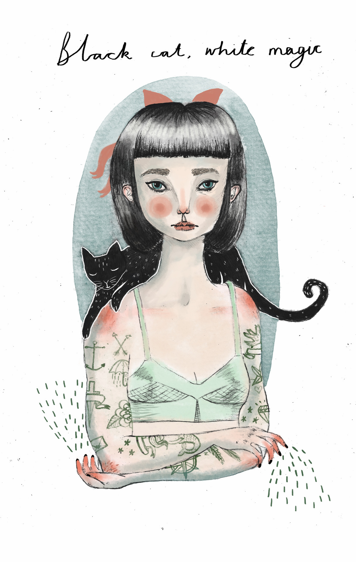 'Teen witch' by Sophie Blackhall-Cain Prints available here! I blog here!