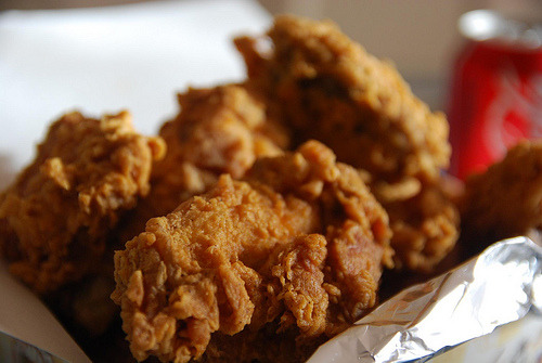 cravingsforfood:  Korean fried chicken.   Bloodmouth 4 lyfe