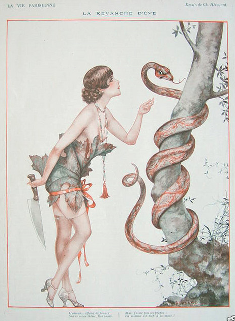 drunkcle:  Eve's Revenge, by Chéri Hérouard in La Vie Parisienne (1927)