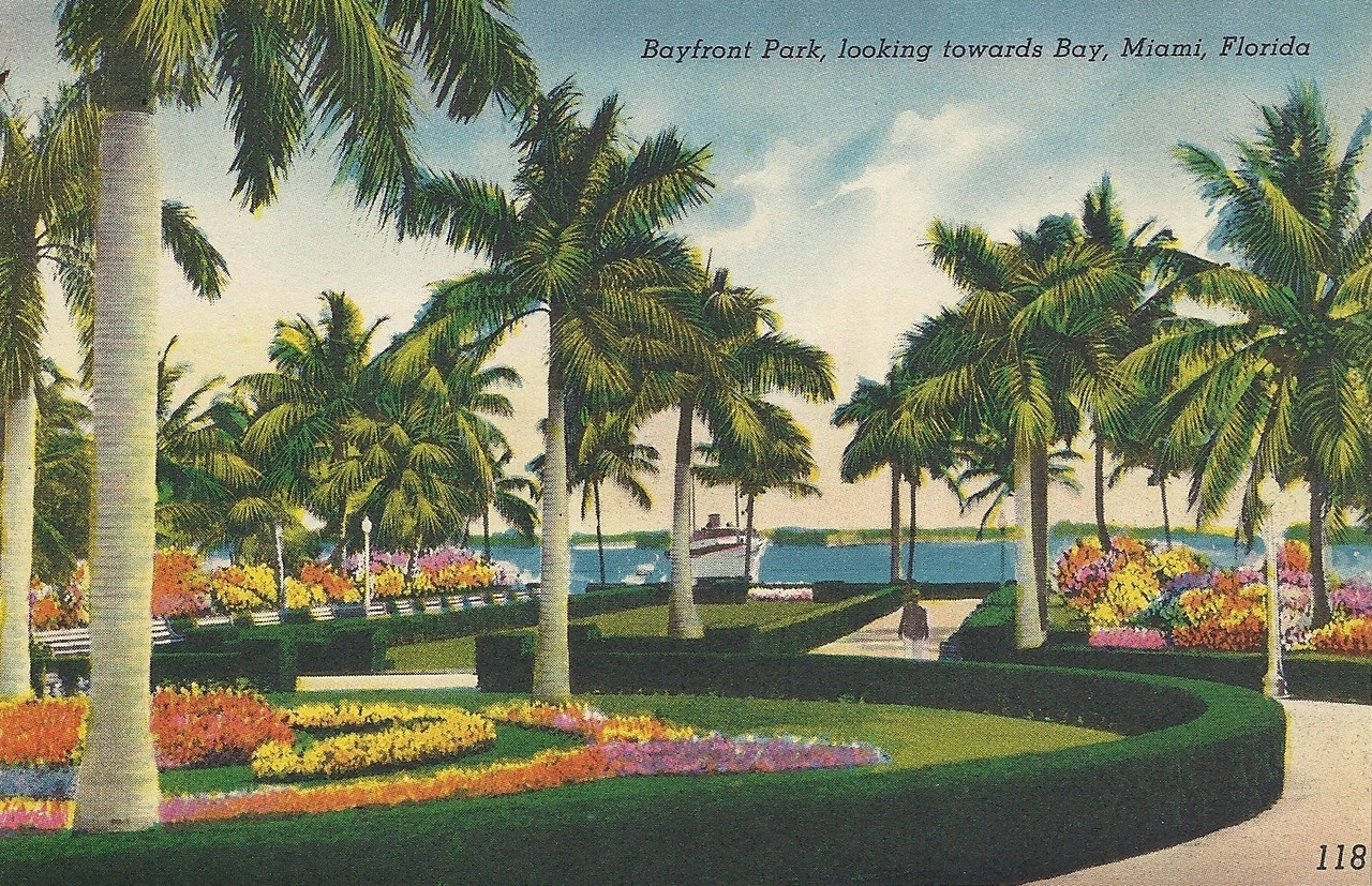 Bayfront Park, looking towards Bay, Miami, Florida