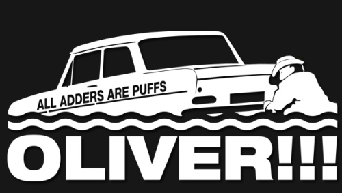 wecouldbegypsies:  Top Gear Stickers - 7/07  OLIVER!