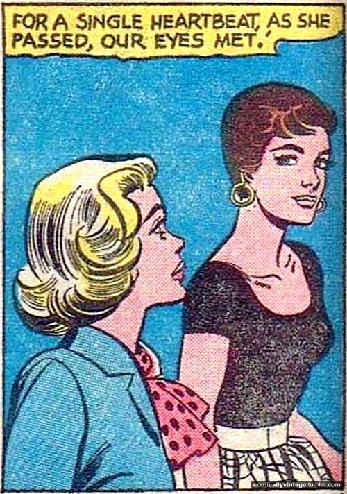 comicallyvintage:  Love at first sight.