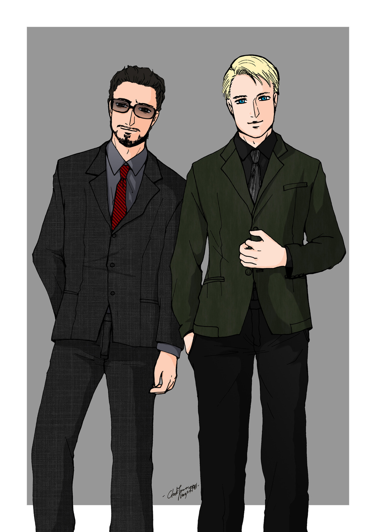 "Steve and Tony request No.2 from ""Secret the avengers"" event of EXTEEN blog http://naga.exteen.com/20120714/secret-the-avengers-to-k-de **original of clothing and mannerisms by JASPAL fall / winter 2011-12**"