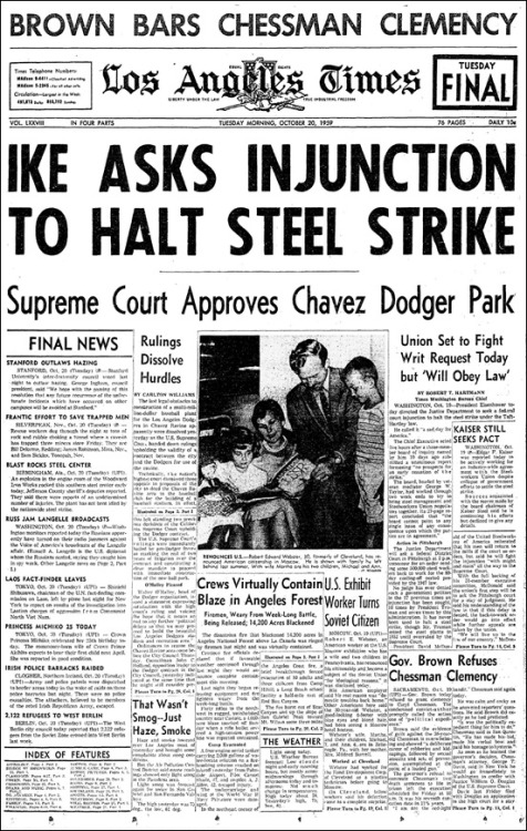 Today in labor history, July 15, 1959:  Half a million steelworkers go on strike over proposed work rule changes which would have resulted in reduced hours and layoffs.  The strike affected nearly every steel mill in the country.   The strike ended after the federal government ordered a back-to-work injunction under the provisions of the Taft-Hartley Act, which the Supreme Court upheld.