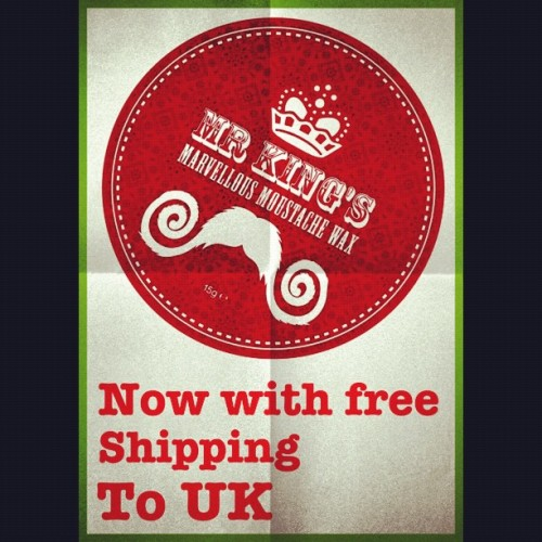 Free shipping for 1 month!! #mrkingsmarvellousmoustachewax #moustache #free  (Taken with Instagram)