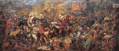 The Battle of Grunwald or 1st Battle of Tannenberg was fought on 15 July 1410, during the Polish–Lithuanian–Teutonic War. The alliance of the Kingdom of Poland and the Grand Duchy of Lithuania, led respectively by King Jogaila (Władysław Jagiełło) and Grand Duke Vytautas (Witold), decisively defeated the Teutonic Knights, led by Grand Master Ulrich von Jungingen. Most of the Teutonic Knights' leadership were killed or taken prisoner. While defeated, the Teutonic Knights withstood the siege on their fortress in Marienburg (Malbork) and suffered only minimal territorial losses at the Peace of Thorn (1411) (Toruń). Territorial disputes continued until the Peace of Melno was concluded in 1422. However, the Knights never recovered their former power and the financial burden of war reparations caused internal conflicts and an economic downturn in their lands. The battle shifted the balance of power in Eastern Europe and marked the rise of the Polish–Lithuanian union as the dominant political and military force in the region.The battle was one of the largest battles in Medieval Europe and is regarded as the most important victory in the history of Poland and Lithuania. It was surrounded by romantic legends and nationalistic propaganda, becoming a larger symbol of struggle against invaders and a source of national pride. During the 20th century, the battle was used in Nazi and Soviet propaganda campaigns. Only in recent decades have historians made progress towards a dispassionate, scholarly assessment of the battle reconciling the previous narratives, which differed widely by nation.