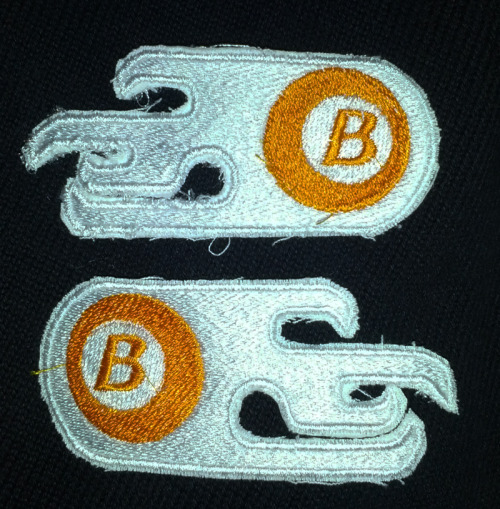 icetigris:  BURNERS PATCH GIVEAWAY! I wanted to see if I could make decent Burners patches on my machine, and I think these turned out pretty well! The top one is the patch that Mike has on his jacket, though it didn't come out super well cause it was the first one I made. The bottom one is a reversed version of Mike's because I (mistakenly) thought he had a patch on both arms. I am giving away both of these patches. HOW TO ENTER: Reblog this post! LIKES DON'T COUNT. You are welcome to follow me if you want, but it won't help your chances of winning. I will randomly select a winner next Saturday, July 21st. Good luck! UPDATE: This contest is open to everyone in the whole world! I will be putting these in a regular envelope and sending them through the mail, so fear not if you don't live in North America!